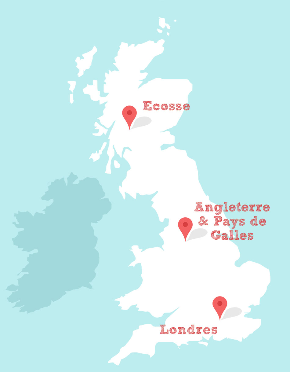 carte angleterre destinations Smoozy